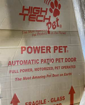 High Tech Automatic Pet Door, large dog, full power, motorized, pet operated plus extra battery and charger! for Sale in Monrovia, CA