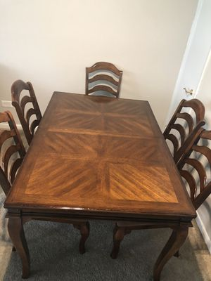 """Dinning table set 78""""x40"""" 6 chairs plus with coffee table!!. for Sale in Charlotte, NC"""
