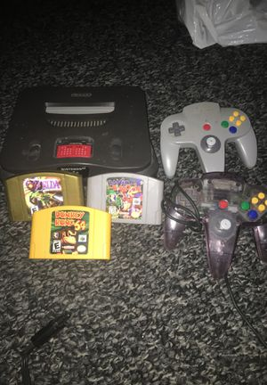 Nintendo 64 with 3 games for Sale in Nashville, TN
