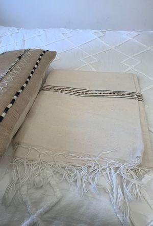 Bohemian throw blanket & pillow for Sale in Baldwin Park, CA
