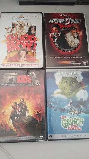 4 Family Movie Dvds for Sale in Henderson, NV