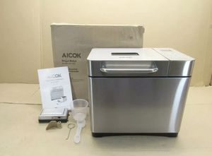 Aicok 2.2lb bread maker stainless steel mod-013 for Sale in Santa Fe Springs, CA