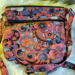 floral red grey crossbody purse bag for Sale in Fresno,  CA
