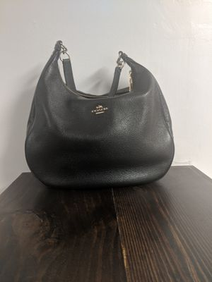 Coach black leather purse for Sale in Tampa, FL