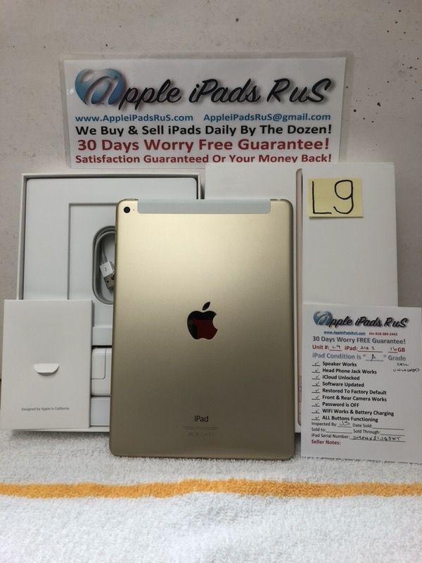 L9 - iPad Air 2 16GB Cell-Unlocked