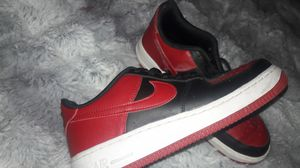 Red white and black air force ones. Size 7y for Sale in Gresham, OR