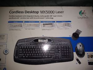 NEW Logitech MX5000 Bluetooth Computer Telework Wireless Keyboard Gaming Father's Day for Sale in Alexandria, VA