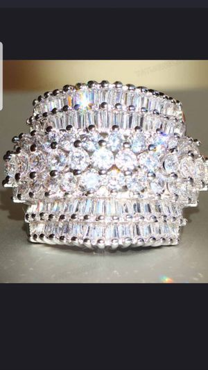 Sterling silver white sapphire ring size 8 for Sale in Baltimore, MD