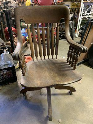 Swizzle vintage oak desk chair. for Sale in Millbrae, CA