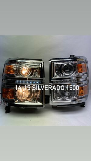 14-15 Chevy Silverado 1500 led chrome with amber projector headlights for Sale in Los Angeles, CA