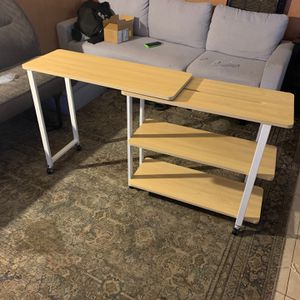 360° Rotating Sofa Side Table with Storage Shelves & Wheels for Sale in Visalia, CA