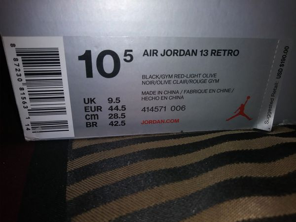 Jordan 13s Olives 10.5... Brandnew...