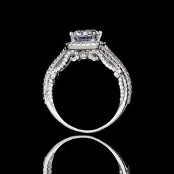 Beautiful Solid 925 sterling Silver Diamond Promise Engagement Wedding Ring for Sale in San Jose,  CA