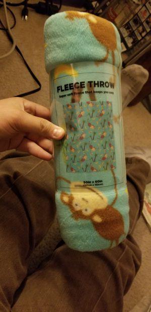 NEW! Monkey Fleece Throw for Sale in Las Vegas, NV