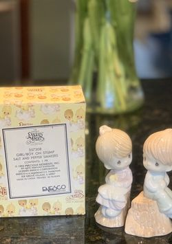 Precious Moments Girl/Boy On Stump Salt And Pepper Shaker for Sale in Annandale,  VA