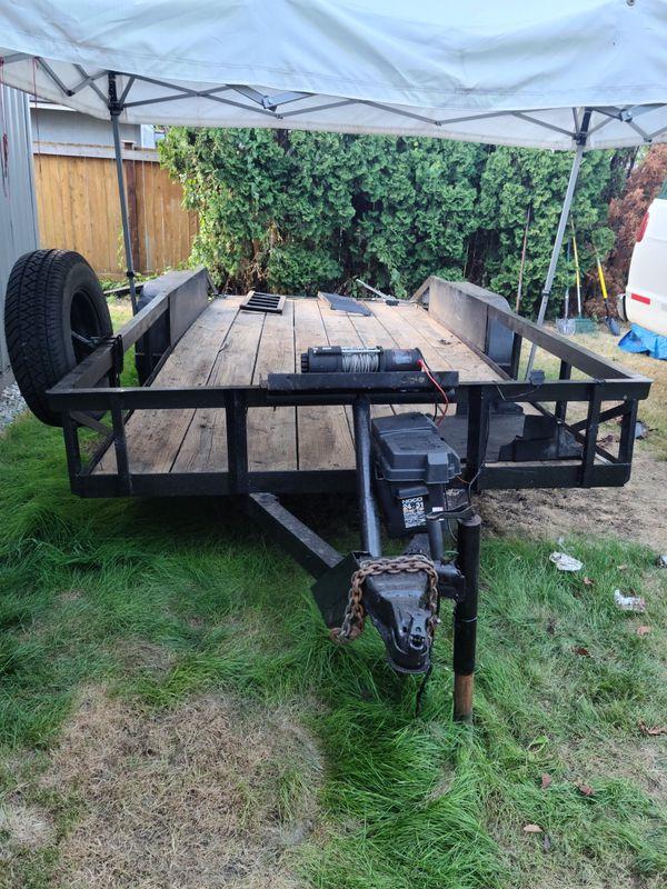 Dual axel car/utility trailer 👌 16fit