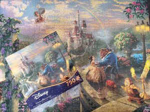 Disney Thomas Kinkade Beauty and the Beast Puzzle for Sale in Gilbert, AZ
