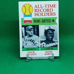 1979 Topps All Time Record Holders Hank Aaron #412 for Sale in Downey, CA