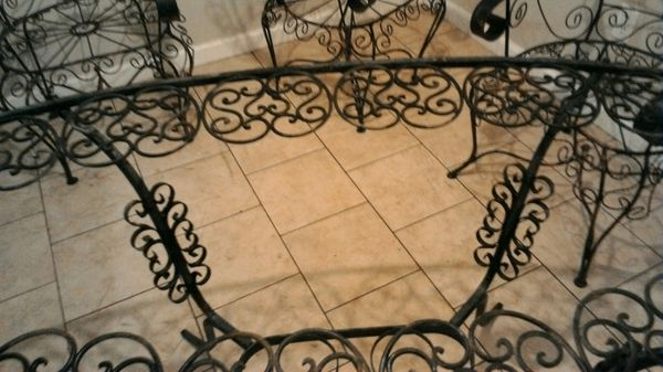 Antique plantation patio furniture set,