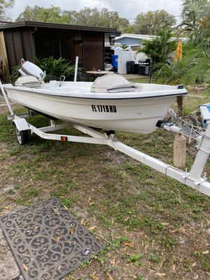2000 Terry boat with trailer. New Axles and wiring done to the trailer good paint for Sale in St. Petersburg, FL