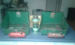 2 Coleman 425E Stoves. 1 Coleman 237 Kerosene Lantern. one price for all. for Sale in Flat Rock, NC