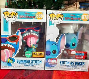 Funko POP Disney Stitch Set NYCC Shared and Hot Topic Exclusive for Sale in Pico Rivera, CA