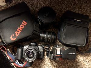 2 cameras and one lenses for $150 for Sale in Vista, CA
