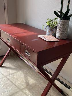 Red, 3 Drawer Target Desk for Sale in Newberg,  OR