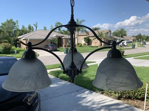 Brushed nickel light fixture for Sale in Trinity, FL