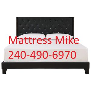 New in box black rhinestone queen size platform bed frame only for Sale in Beltsville, MD