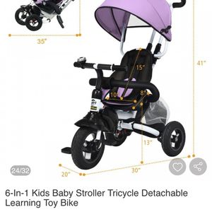 6 In 1 Kids Baby Stroller Tricycle for Sale in Fresno, CA