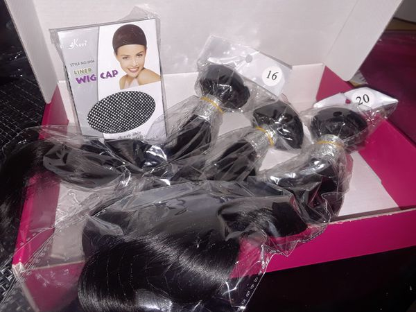 Virgin Brazilian 100% human hair bundles