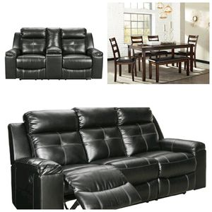 Clearance! Brand new reclining couch and loveseat set includes 6pc kitchen table set $1699 for Sale in Richmond, VA