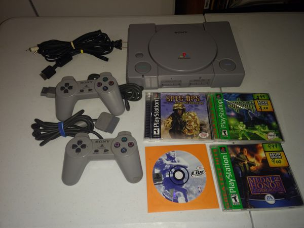 Firm price. PlayStation 1 with games
