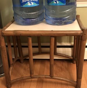 Sturdy 2 bamboo end tables. Pretty wood. for Sale in Silver Spring, MD