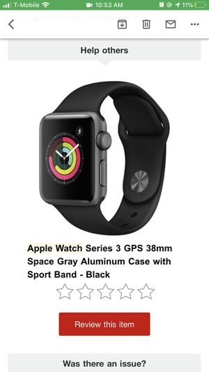 Apple Watch Series 3 GPS 38mm for Sale in LEWIS MCCHORD, WA