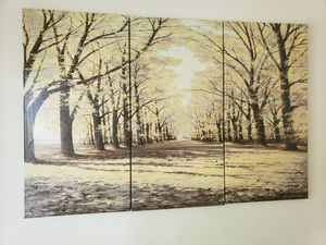 3 piece wall painting for Sale in Fairfax, VA
