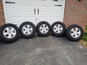 Jeep wrangler rims and tires for Sale in Rising Sun, MD