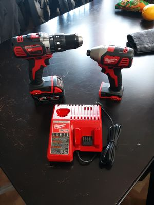 Milwaukee hammer drill and impact + 4.0 battery for Sale in Chula Vista, CA