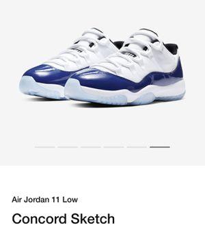Air Jordan 11 low concord sketch size 12womens/10.5 in men's for Sale in Deltona, FL
