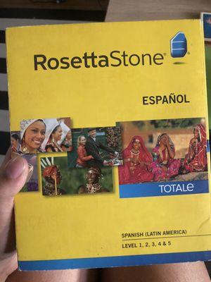 Rosetta Stone Spanish Lvl. 1-5 for Sale in Long Beach, CA