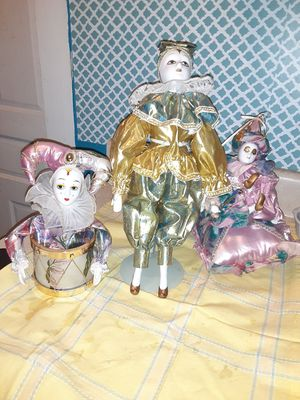 Set of 3 clowns for Sale in Greensboro, NC