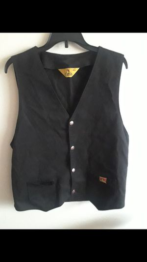 VINTAGE Union Made• Ben Davis •Black Snap Vest with Yellow Tag for Sale in Milpitas, CA