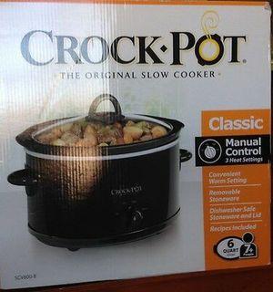 Crock Pot 6 Qt Slow Cooker Black Oval Scv600b for Sale in Jersey City, NJ