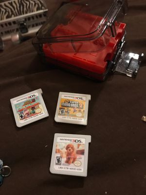 Nintendo 3 DS games with case for Sale in Prattville, AL