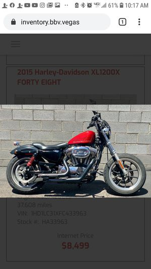 2015 Harley Davidson Forty Eight 1200 for Sale in Las Vegas, NV