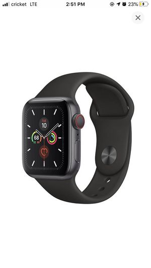 Apple Watch Series 5 GPS + Cellular with Black Sport Band - 44mm for Sale in Rosemead, CA