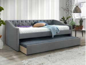 Twin Fabric Day Bed, Grey for Sale in Westminster, CA
