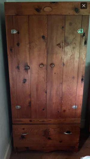 1940s Heavy Duty Wood Armoire for Sale in Rustburg, VA