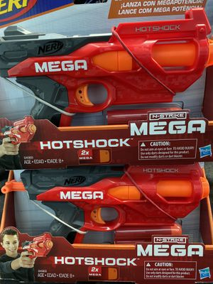 2 NEW NERF MEGA Hotshock guns.. $20 for the pair for Sale in Lake Tapps, WA
